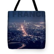Poster Of Downtown San Francisco With Harbor On The Right Tote Bag