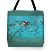 Praying Dragonfly Tote Bag