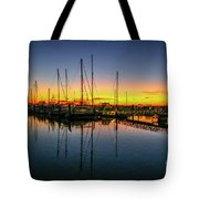 Pre-dawn Marina Colors Tote Bag by Tom Claud