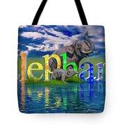 Precious E Is For Elephant Tote Bag