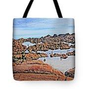 Prescott Arizona Watson Lake Rocks, Hills Water Sky Clouds 3122019 4870 Tote Bag