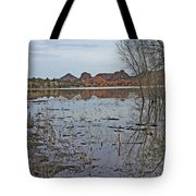 Prescott Arizona Watson Lake Sky Clouds Hills Rocks Trees Grasses Water 3142019 4920 Tote Bag