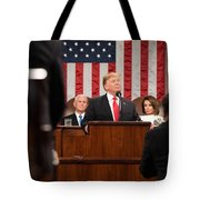 President Donald J. Trump Delivers His State Of The Union Address At The U.s. Capitol 2 Tote Bag