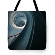 Pretty Blue Spiral Staircase Tote Bag