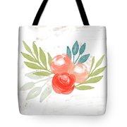 Pretty Coral Roses - Art By Linda Woods Tote Bag