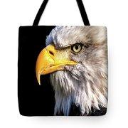 Profile Of Bald Eagle Tote Bag