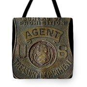 Prohibition Agent Badge Tote Bag