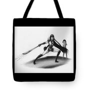 Protecting Her From Monsters - Artwork Tote Bag by Ryan Nieves