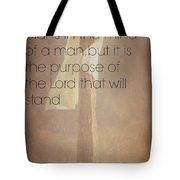 Proverbs 19 21 Tote Bag