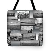 Provincetown Cape Cod Massachusetts Collage Bw 02 Tote Bag
