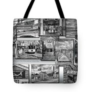 Provincetown Cape Cod Massachusetts Collage Pa Bw Tote Bag