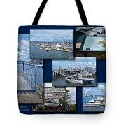 Provincetown Marina Cape Cod Massachusetts Collage Tote Bag