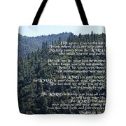 Psalm 121 Tote Bag