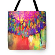 Psychedelic Daisy Tote Bag by Cindy Greenstein