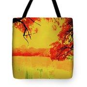 Psychedelic Lake Tote Bag