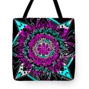 Psychedelic Mandala Tote Bag by Becky Herrera