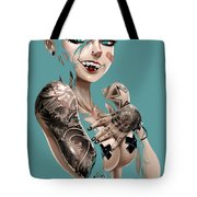 7 Day Psychos Part 2 - Kelly Tote Bag by Pete Tapang