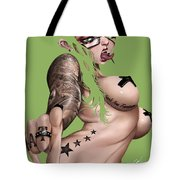 7 Day Psychos Part 1 - Aria Tote Bag by Pete Tapang