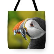 Puffin With A Mouthful Tote Bag