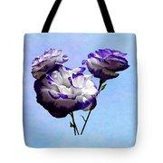 Purple And White Lisianthus Tote Bag