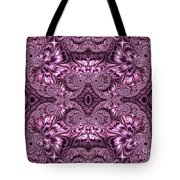 Purple Lilac Gardens And Reflecting Pools Fractal Abstract Tote Bag by Rose Santuci-Sofranko