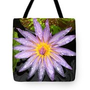 Purple Lotus Water Lily Tote Bag