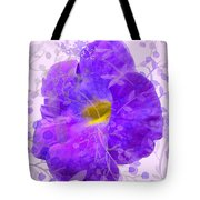 Purple Morning Glory With Pattern Tote Bag