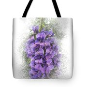 Purple Texas Mountain Laurel Flower Cluster Tote Bag by Patti Deters