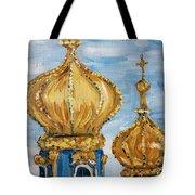 Pushkin Palace Towers Tote Bag by Maria Langgle