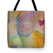 Puzzling Over Plastics Tote Bag by Kim Nelson