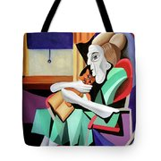 Quiet Time Tote Bag by Anthony Falbo