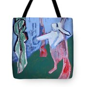 Rabbit By A Tree Tote Bag