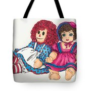Raggedy Ann And Friend  Tote Bag
