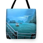 Rain Aboard Au Co Cruise Ha Long Bay  Tote Bag