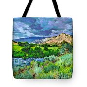 Rain Clouds On The Way To Sweetwater Tote Bag