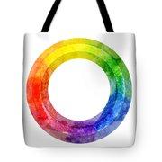 Rainbow Color Wheel Tote Bag by Lauren Heller