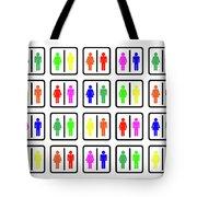 Rainbow Gender Men Women Study Tote Bag