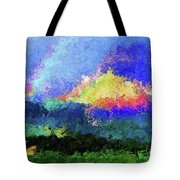 Rainbow Mountain - Breaking The Gridlock Of Hate Number 5 Tote Bag
