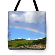 Rainbow Over Buck Island Lighthouse Tote Bag