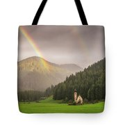 Rainbow Over St  Johann Tote Bag by James Billings