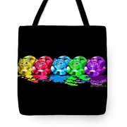 Rainbow Painted Cats Tote Bag
