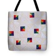 Rainbow Pinwheel Tote Bag