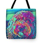 Rainbow Pup Tote Bag