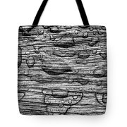 Raindrops On Wood, California, Usa Tote Bag