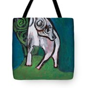 Ram On A Hill Tote Bag