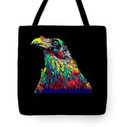 Raven Head Weird Bird Lucky Vintage Design Tote Bag