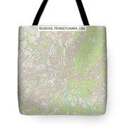 Reading Pennsylvania Us City Street Map Tote Bag