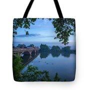 Receding Fog On The River Tote Bag