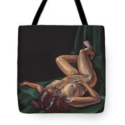 Reclining Nude Model Foreshortening Study Tote Bag