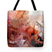 Red Abstract Art - The Vineyard - Sharon Cummings  Tote Bag